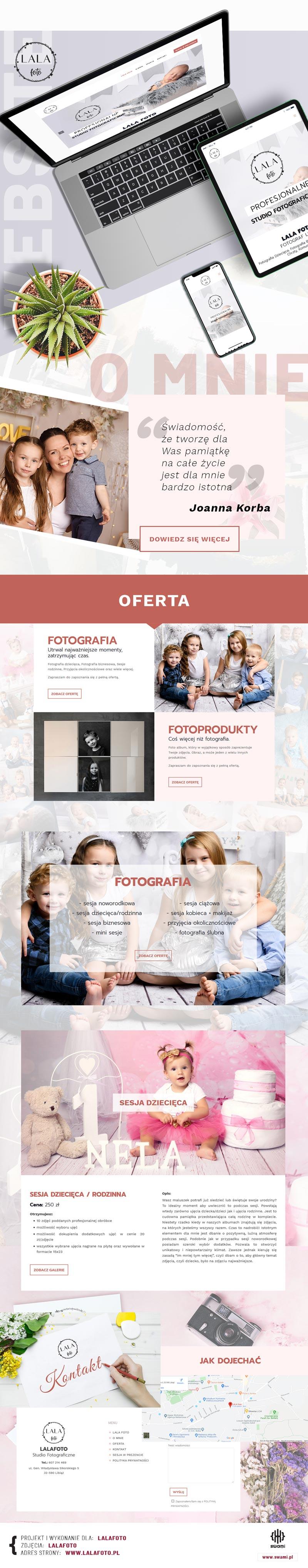 LalaFoto - Strona www - Portfolio - sWaMi