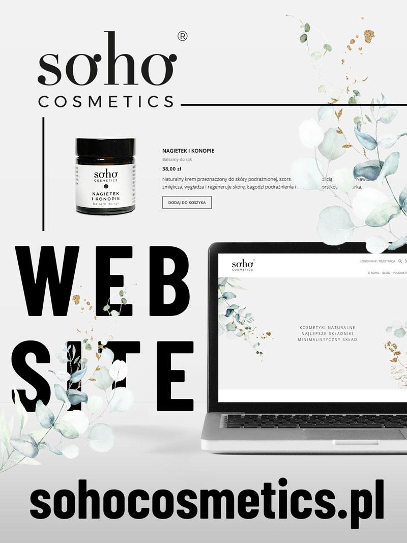 Sohocosmetics - Strona www - Portfolio - sWaMi