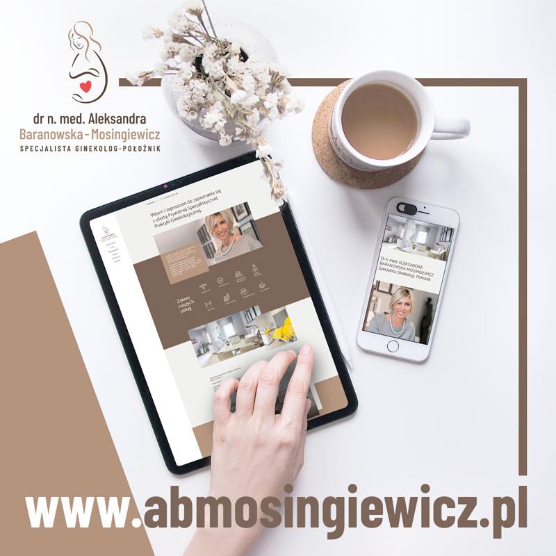 Aleksandra Baranowska-Mosingiewicz - Strona www - Portfolio - sWaMi