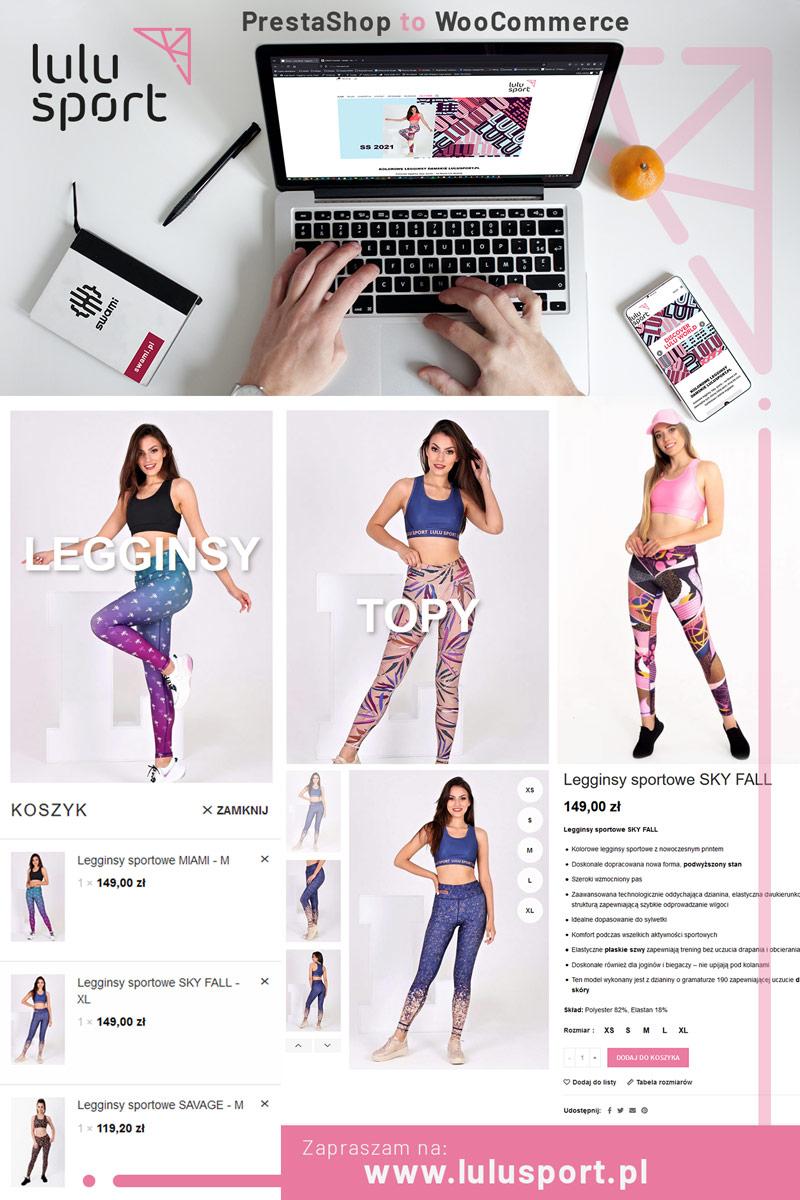 Lulu Sport - Strona www - Portfolio - sWaMi