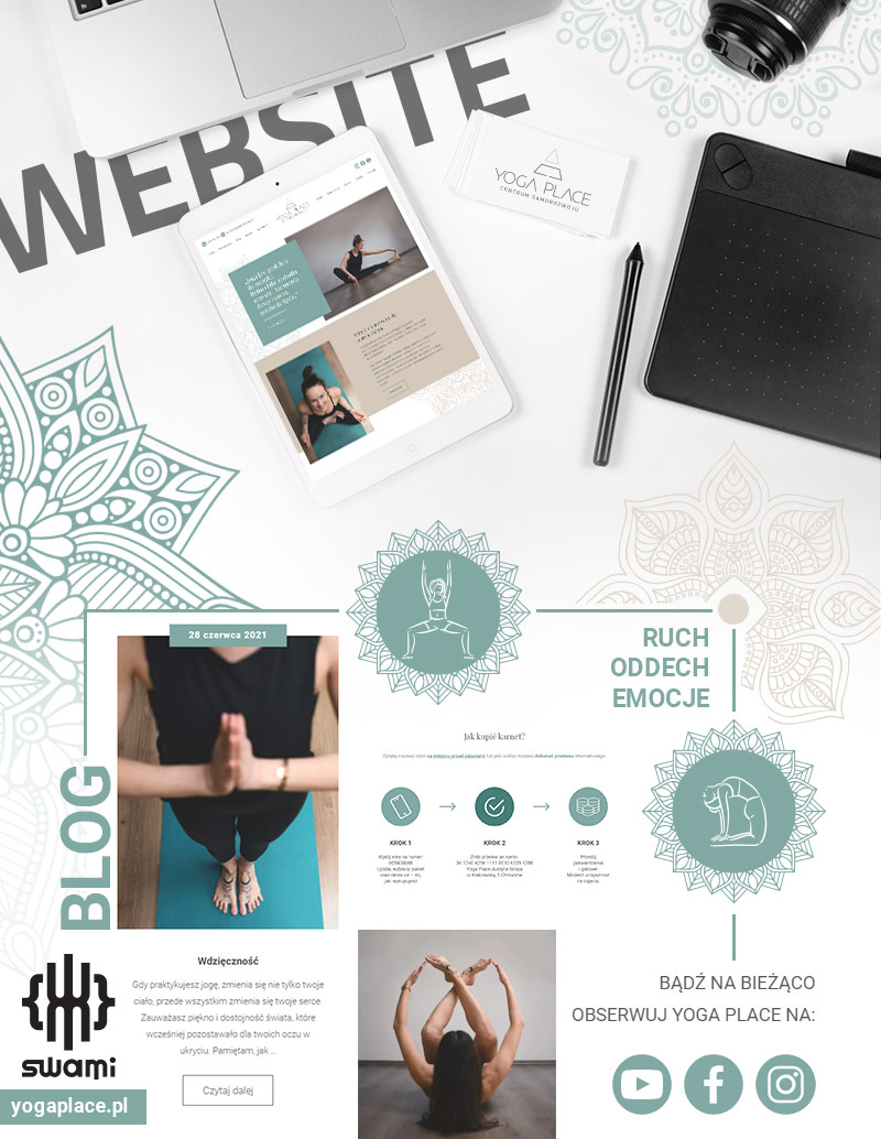 Yoga Place - Strona www - Portfolio - sWaMi